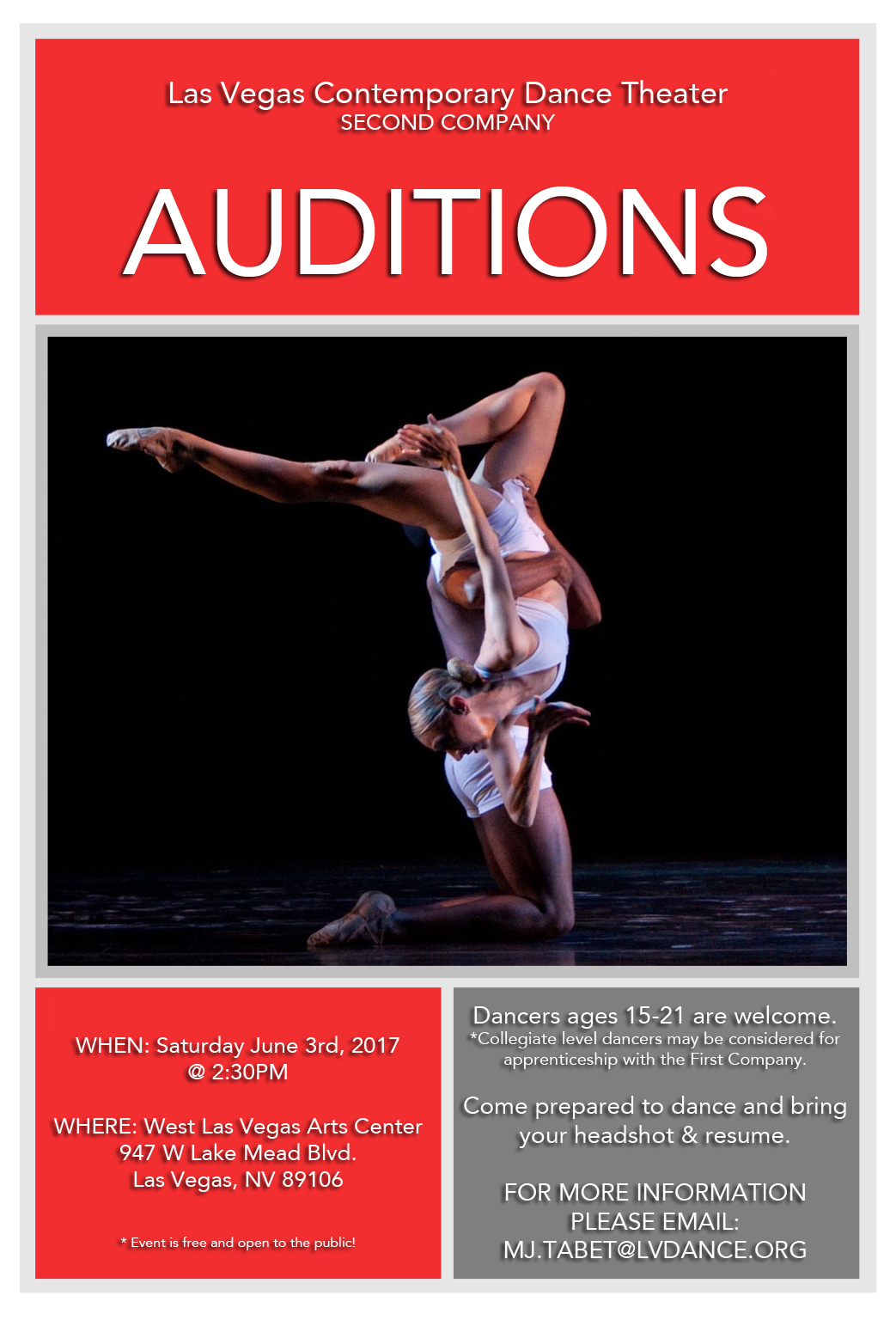 LVCDT2 Audition Flyer